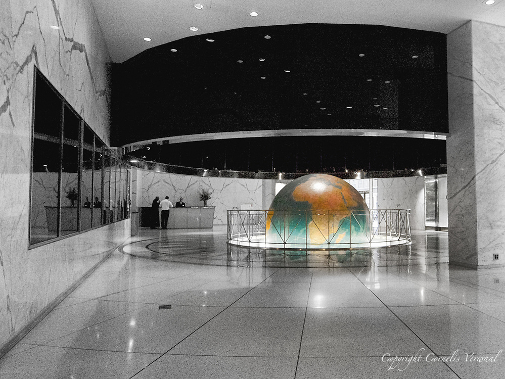 The Globe in the lobby of Daily News Building on 42nd street in New York City