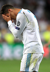 Real Madrid's Cristiano Ronaldo appears dejected during the UEFA Champions League Final at the NSK Olimpiyskiy Stadium, Kiev.