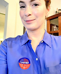 """Felicia Day releases a photo on Instagram with the following caption: """"Please vote. There are so many important issues at stake today! Vote for the future of a kid you know if anything!\n\nIn CA + not registered? CA has same-day voter registration! Text WHERECA to 90975 for your polling place, and vote by provisional ballot. (It will be counted.) And Tweet your I Voted sticker w/ #CaliforniaCounts! \u003c3"""". Photo Credit: Instagram *** No USA Distribution *** For Editorial Use Only *** Not to be Published in Books or Photo Books ***  Please note: Fees charged by the agency are for the agency's services only, and do not, nor are they intended to, convey to the user any ownership of Copyright or License in the material. The agency does not claim any ownership including but not limited to Copyright or License in the attached material. By publishing this material you expressly agree to indemnify and to hold the agency and its directors, shareholders and employees harmless from any loss, claims, damages, demands, expenses (including legal fees), or any causes of action or allegation against the agency arising out of or connected in any way with publication of the material."""