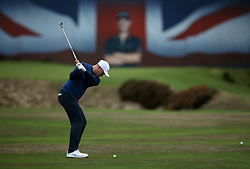 Oliver Fisher during day two of the British Masters at Walton Heath Golf Club, Surrey.