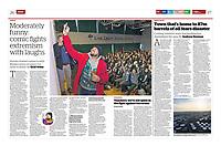 Humza Arshad, a muslim comedian, London. for the Washington Post.