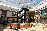 City Arcade shopping centre in the UK City of Culture 2021 on 23rd June 2021 in Coventry, United Kingdom. The UK City of Culture is a designation given to a city in the United Kingdom for a period of one year. The aim of the initiative, which is administered by the Department for Digital, Culture, Media and Sport. Coventry is a city which is under a large scale and current regeneration.