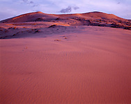 CADMH_102 - USA, California, Mojave National Preserve, Sunset light defines texture of Kelso Dunes.