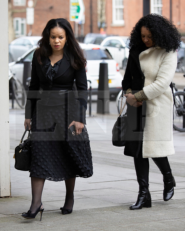 © Licensed to London News Pictures. 16/03/2021. London, UK. MP Claudia Webbe(L) arrives at Westminster Magistrates Court .She is charged with one count of harassment and the trial is expected to last for one day.  Photo credit: George Cracknell Wright/LNP