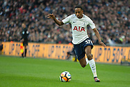 Spurs Kyle Walker-Peters (37) attacks with the ball during the The FA Cup 3rd round match between Tottenham Hotspur and AFC Wimbledon at Wembley Stadium, London, England on 7 January 2018. Photo by Robin Pope.