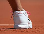 Personalized Azarenka shoe at Roland Garros