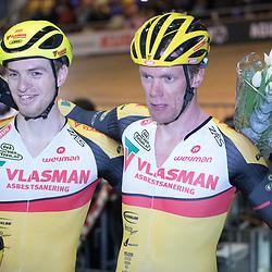 30-12-2017: Wielrennen: NK Baan: Alkmaar<br />Yoeri Havik en Wim Stroetinga pakken de titel op de madison