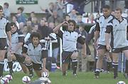 Richmond, Surrey, UK.,  04/11/2002,  All Black Rugby Training, Richmond Athletic Ground, Old Deer Park, [Mandatory Credit; Peter Spurrier/Intersport Images]