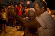 """Jesus Dàvila on the day of her 100 birthday, here dancing with a """"young boy"""""""
