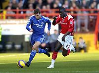 Photo: Olly Greenwood.<br />Charlton v Chelsea. The Barclays Premiership. 03/02/2007. Chelsea's Andriy Schevchenko and Charlton's Amady Faye