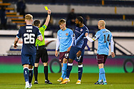 YELLOW CRAD Finlay Pollock (#54)) of Heart of Midlothian FC is shown a yellow card during the SPFL Championship match between Raith Rovers and Heart of Midlothian at Stark's Park, Kirkcaldy, Scotland on 30 April 2021.