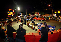 Friday night at Weirs Beach for Bike Week.  (Karen Bobotas/for the Laconia Daily Sun)