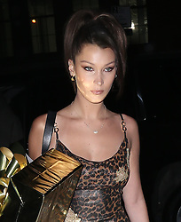 Bella Hadid seen at Gigi Hadid's in New York City for Gigi's 23rd birthday. 23 Apr 2018 Pictured: Bella Hadid. Photo credit: MEGA TheMegaAgency.com +1 888 505 6342