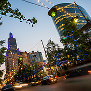 Kansas City downtown area at 14th Street and Grand Avenue.