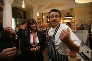 Mark Hix and Tracey Emin, Tracey Emin gallery opening dinner at 176 Prince of Wales Road, NW5 17 September 2007. -DO NOT ARCHIVE-© Copyright Photograph by Dafydd Jones. 248 Clapham Rd. London SW9 0PZ. Tel 0207 820 0771. www.dafjones.com.