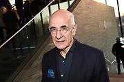 Uitreiking Philip Bloemendal Prijs aan hét journalistieke presentatietalent 2018 in beeld en geluid, Hilversum<br /> <br /> Op de foto:  Frits Spits - Frits Ritmeester