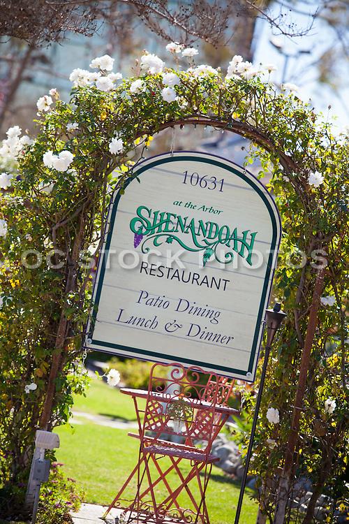 Shenandoah Restaurant at the Arbor in Los Alamitos California
