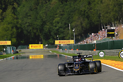 August 30, 2019, Spa Francorchamps, Belgium: Haas Driver ROMAIN GROSJEAN (FRA) in action during the second free practice session of the Formula one Belgian Grand Prix at the SPA Francorchamps circuit - Belgium (Credit Image: © Pierre Stevenin/ZUMA Wire)