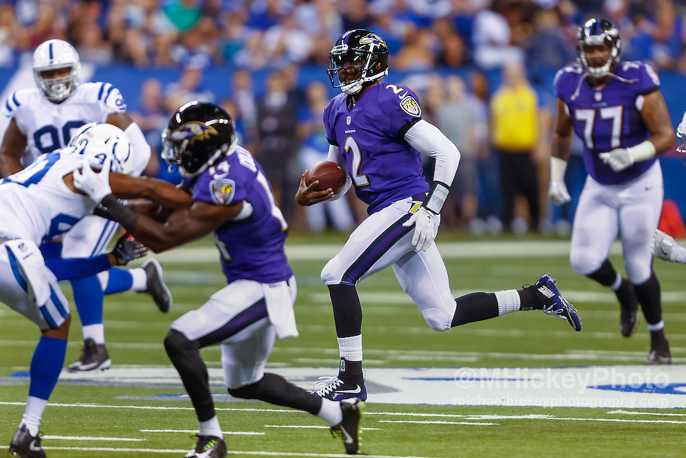 INDIANAPOLIS, IN - AUGUST 20: Josh Johnson #2 of the Baltimore Ravens is seen during the game against the Indianapolis Colts at Lucas Oil Stadium on August 20, 2016 in Indianapolis, Indiana.  (Photo by Michael Hickey/Getty Images) *** Local Caption *** Josh Johnson