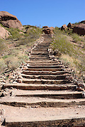 This was the easy part of the hike up Camelback Mountain in Phoenix.