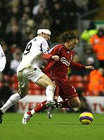 Photo: Paul Greenwood/Sportsbeat Images.<br />Liverpool v Bolton Wanderers. The FA Barclays Premiership. 02/12/2007.<br />Bolton's Gavin McCann, (L) tackles Liverpool's Lucas