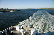 Wake of Northlink Ferry, Bressay Sound, Lerwick, Shetland Islands, Scotland