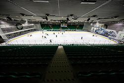 General view of an arena during first leg Ice Hockey game between HK SZ Olimpija Ljubljana and Asiago Hockey in Final of Alps Hockey League 2020/21, on April 20, 2021 in Hala Tivoli, Ljubljana, Slovenia. Photo by Vid Ponikvar / Sportida