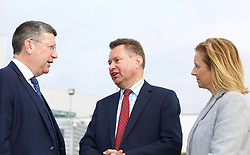 Scottish Conservatives finance spokesman Murdo Fraser, centre, with Rachael Hamilton, party spokeswoman on culture and tourism and Gordon Dewar, CEO at Edinburgh Airport, discussing the party's call for a cut in air departure tax. pic copyright Terry Murden @edinburghelitemedia