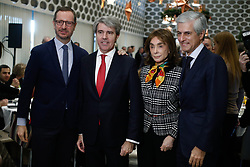 December 17, 2018 - Madrid, Madrid, Spain - The deputy secretary of organization of the Popular Party, Javier Maroto; the president of the Community of Madrid, Angel Garrido; the president of Club XXI, Paloma Segrelles; and the president of the organization ''Concordia y Libertad'', Adolfo Suarez Illiana.A breakfast colloquium organized by the Siglo XXI Club brings together the PP dome in Madrid, Spain. December 17th 2018. (Credit Image: © AFP7 via ZUMA Wire)