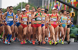 TAICANG, May 5, 2018  Players compete during the women's 20km competition at the IAAF World Race Walking Team Championships Taicang 2018 in Taicang, east China's Jiangsu Province, May 5, 2018. (Credit Image: © Ji Chunpeng/Xinhua via ZUMA Wire)