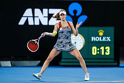 January 18, 2019 - Melbourne, VIC, U.S. - MELBOURNE, VIC - JANUARY 17: ALIZE CORNET (FRA) during day four match of the 2019 Australian Open on January 17, 2019 at Melbourne Park Tennis Centre Melbourne, Australia (Photo by Chaz Niell/Icon Sportswire) (Credit Image: © Chaz Niell/Icon SMI via ZUMA Press)