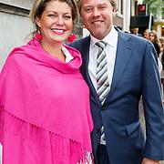 NLD/Amsterdam/20150620 - Huwelijk Kimberly Klaver en Bas Schothorst, Pauline Wingelaar en partner Harmen Bisschop van Tuinen