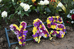 © Licensed to London News Pictures. 06/01/2017. Huddersfield, UK. Yassar Yaqub's grave following his funeral at Hey Lane Cemmetary in Huddersfield, West Yorkshire. Yaqub, 28, from Huddersfield, was shot dead in a car stopped near junction 24 of the M62 as part of a planned police operation. Photo credit: Joel Goodman/LNP