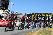 Team BMC during the Tour de France 2018, Stage 3, Team Time Trial, Cholet-Cholet (35 km) on July 9th, 2018 - Photo Kei Tsuji/ BettiniPhoto / ProSportsImages / DPPI