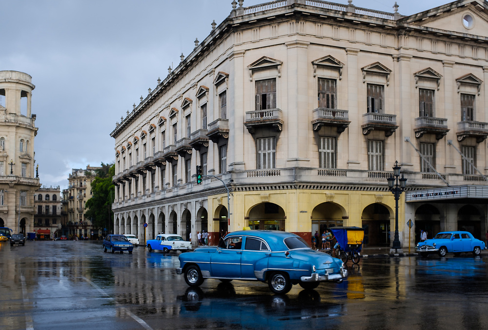 HAVANA, CUBA - CIRCA MARCH 2017: Old car in the streets of Havana.