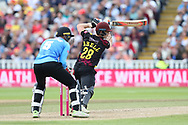 Somersets Tom Abele during the Vitality T20 Finals Day semi final 2018 match between Sussex Sharks and Somerset at Edgbaston, Birmingham, United Kingdom on 15 September 2018.