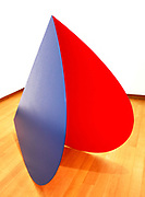 Blue Red Rocker 1963. Created from painted aluminium. Elsworth Kelly