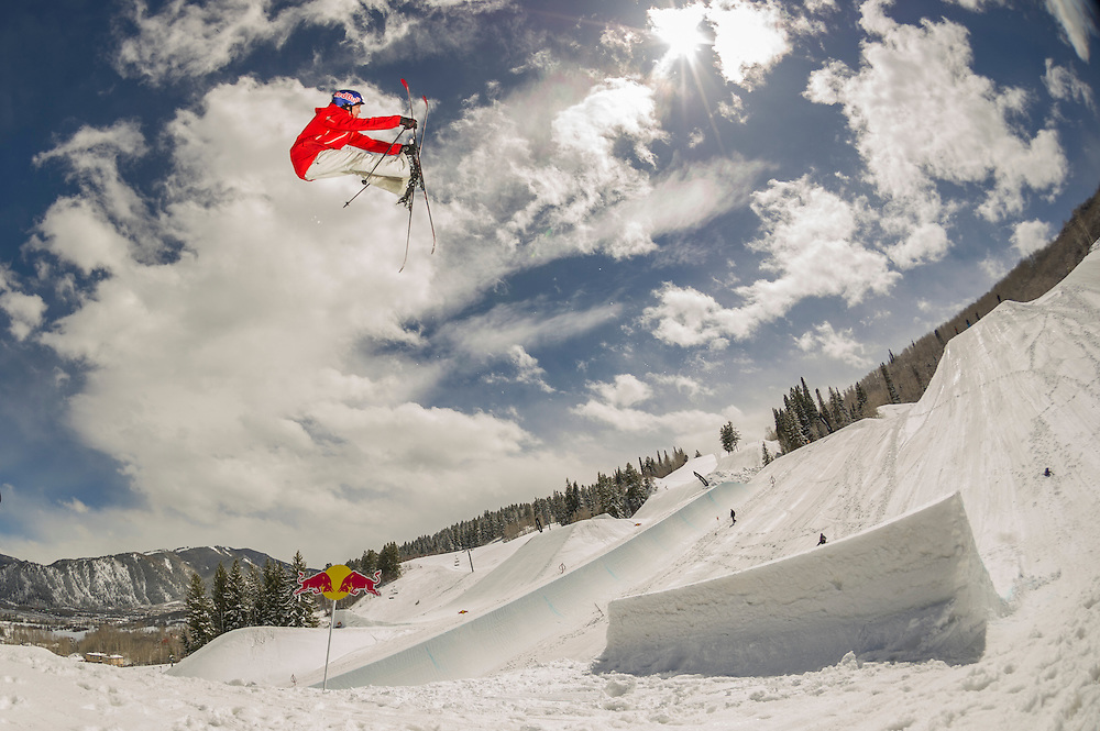 Jesper Tjaden performs at the RedBull Performance Camp in Aspen Colorado, United States on April 14th, 2013