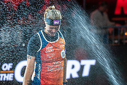 Madelein Meppelink during the ceremony on the last day of the beach volleyball event King of the Court at Jaarbeursplein on September 12, 2020 in Utrecht.