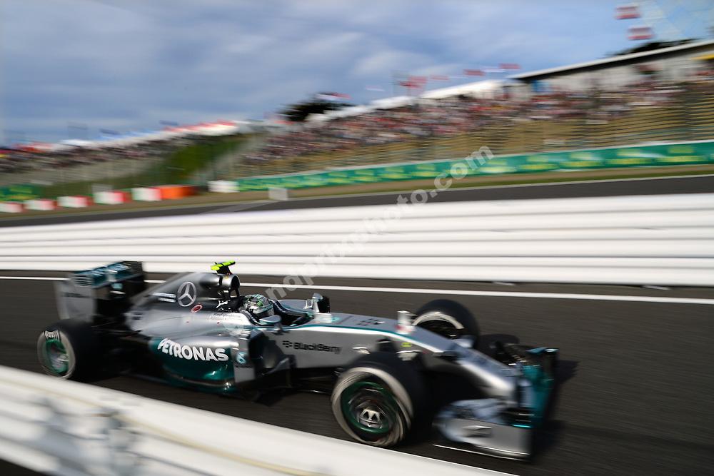 Nico Rosberg (Mercedes) during qualifying for the 2014 Japanese Grand Prix in Suzuka. Photo: Grand Prix Photo