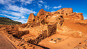 Morning light on Wupatki ruins, Wupatki National Monument, Arizona