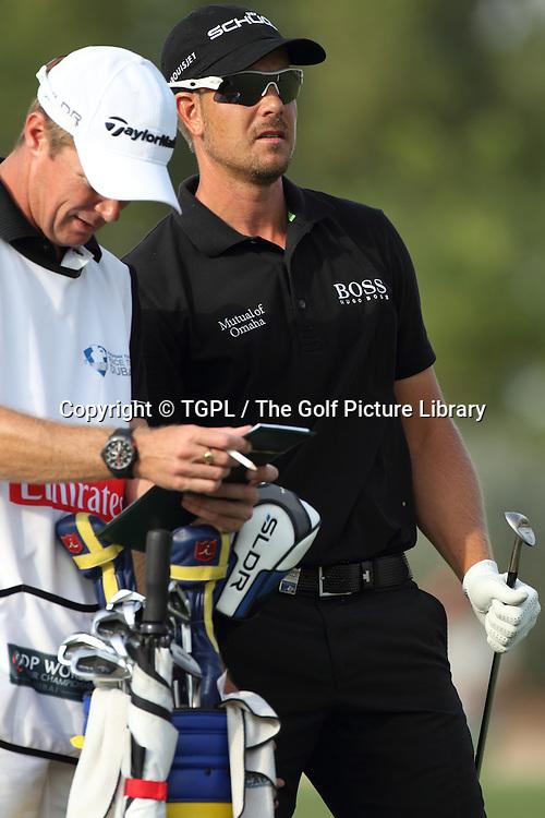 Henrik STENSON (SWE) during fourth round DP World Tour Championship 2013,Jemeirah Golf Estates, Dubai,UAE.
