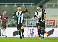 Football - 2020 / 2021 Premier League - Newcastle United vs Leeds United - St James Park<br /> <br /> Miguel Almiron of Newcastle United scores two level the game at 1-1<br /> <br /> COLORSPORT/BRUCE WHITE