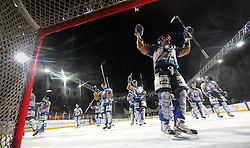 16.09.2012, Amphitheater, Pula, CRO, EBEL, Ice Fever, KHL Medvescak Zagreb vs UPC Vienna Capitals, 04. Runde, im Bild Jubel von Zagreb nach dem Spiel // during the Erste Bank Icehockey League 04th Round match betweeen KHL Medvescak Zagreb and UPC Vienna Capitals at the Amphitheater, Pula, Croatia on 2012/09/16. EXPA Pictures © 2012, PhotoCredit: EXPA/ Pixsell/ Zeljko Lukunic ***** ATTENTION - OUT OF CRO, SRB, MAZ, BIH and POL *****