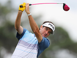 April 7, 2018 - Augusta, GA, USA - Bubba Watson hits from the 1st tee during the third round of the Masters Tournament on Saturday, April 7, 2018, at Augusta National Golf Club in Augusta, Ga. (Credit Image: © Curtis Compton/TNS via ZUMA Wire)
