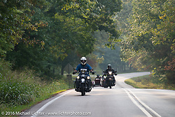 Stage 6 of the Motorcycle Cannonball Cross-Country Endurance Run, which on this day ran from Cape Girardeau to Sedalia, MO., USA. Wednesday, September 10, 2014.  Photography ©2014 Michael Lichter.