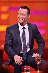 Joseph Gordon-Levitt during filming of the Graham Norton Show at The London Studios, south London, to be aired on BBC One on Friday evening.