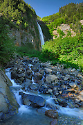 Twin Falls (falls on the left)<br /> Smithers <br /> British Columbia<br /> Canada