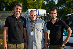 Cervélo Bigla Team Manager, Thomas Campana with Andermat sponsors at La Course by Le Tour de France 2018, a 112.5 km road race from Annecy to Le Grand Bornand, France on July 17, 2018. Photo by Sean Robinson/velofocus.com