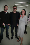 TIM VAUGHAN, BEDN WEAVER AND CARAGH THURING, private view  of new exhibition by Tim Stoner , Alison Jacques Gallery in new premises in Berners St., London, W1 ,Afterwards across the rd. at the Sanderson Hotel. 3 May 2007. DO NOT ARCHIVE-© Copyright Photograph by Dafydd Jones. 248 Clapham Rd. London SW9 0PZ. Tel 0207 820 0771. www.dafjones.com.